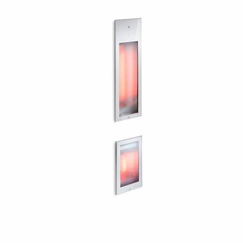 Pure Duo Infrarood Inbouwapparaat 20x62x10 cm en 20x32x10 cm met Kuitbrander Aluminium