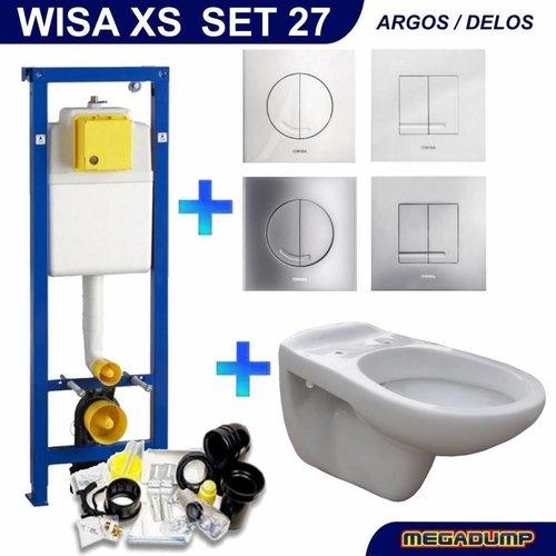 XS Toiletset 27 wandcloset Neptunus met Argos/Delos drukplaat