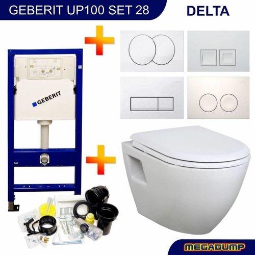 UP100 Toiletset 28 Creavit TP325 Wit met softclose zitting