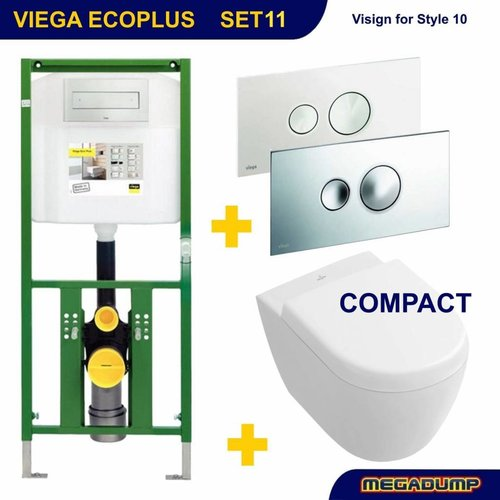 EcoPlus Toiletset 11 V&B Subway 2.0 COMPACT met Visign for Style 10 drukplaat