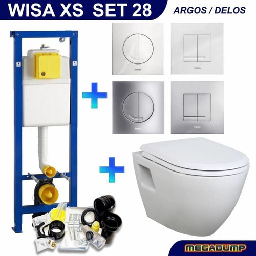 XS Toiletset 28 Creavit TP325 Wit met softclose zitting