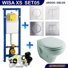Wisa XS Toiletset 05 Sphinx Econ 2 met Argos/Delos drukplaat