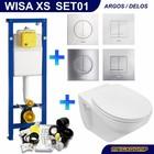 Wisa XS Toiletset 01 Basic wandcloset Softclose met Argos/Delos drukplaat