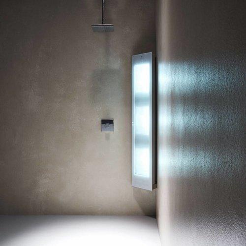 Sunshower UV en Infrarood Combi White Opbouwapparaat 29x144x22.8 cm Aluminium