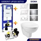 Geberit UP320 Toiletset 03 Megasplash  Basic Smart met bril en drukplaat