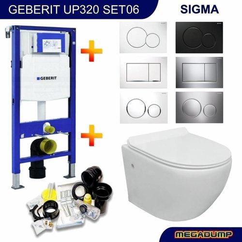 UP320 Toiletset 06 VM Go Aquaflow Rimfree met Sigma drukplaat