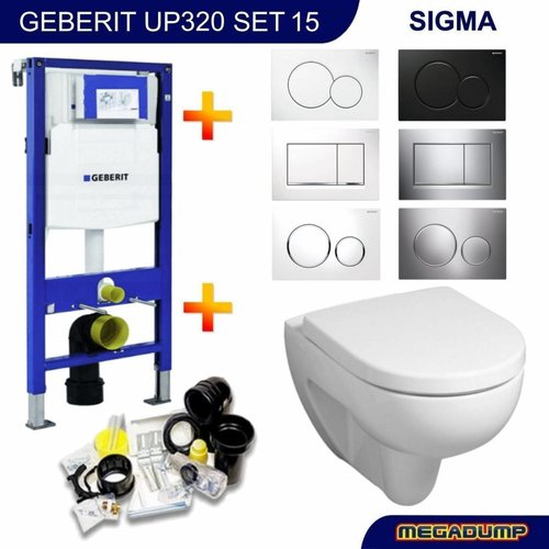 UP320 Toiletset 15 Sphinx 300 Rimfree met Sigma drukplaat
