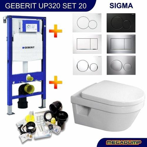 UP320 Toiletset 20 Villeroy & Boch Omnia Architectura DirectFlush met bril en drukplaat