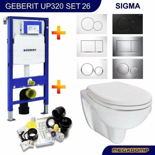 UP320 Toiletset 26 Wiesbaden Trevi compact met bril en drukplaat