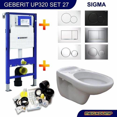 UP320 Toiletset 27 wandcloset Neptunus met Sigma drukplaat