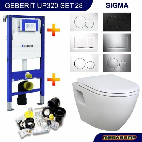 UP320 Toiletset 28 Creavit TP325 Wit met softclose zitting