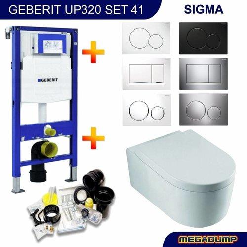 UP320 Toiletset 41 Wiesbaden Arco met Sigma drukplaat