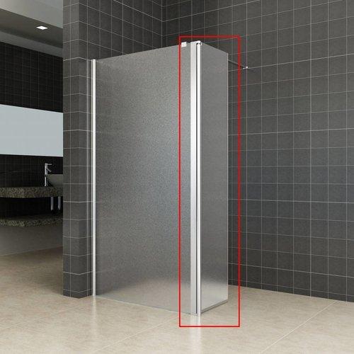 Zijwand Voor Inloopdouche Met Link Of Rechts Scharnierend Profiel 35X200 Cm 10 Mm Nano Mat Glas