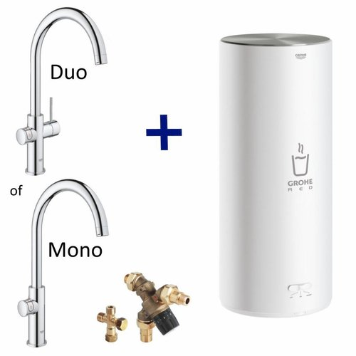 Grohe Kokendwaterkraan Red New L Size Boiler MONO of DUO (RVS of Chroom)