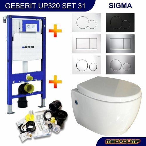 UP320 Toiletset 31 SaniCare Sani-Well met bril en drukplaat