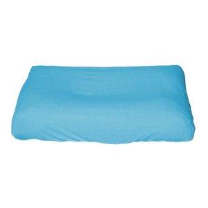Hoes Aqua voor standaard formaat aankleedkussen (70/75*50/55 cm) Lichtblauw