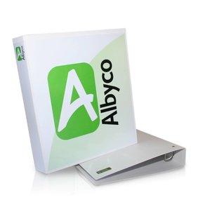 Albyco FSC-ringbandmappen, wit 4-D mechaniek