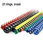 Albyco 21-rings plastic bindringen 32 mm ovaal, tot 310 vel