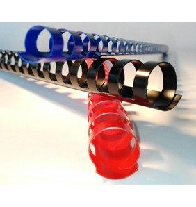 Albyco 21-rings plastic bindringen 38 mm ovaal, tot 370 vel