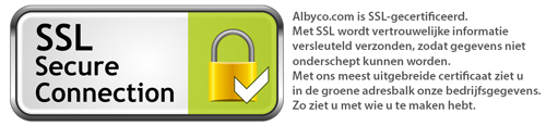 Albyco.com: SSL- gecertificeerd