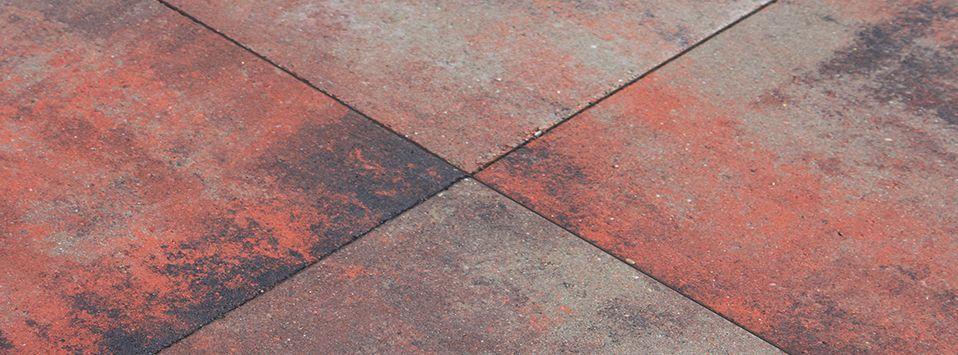 Tuinvisie metro tegel carre nero rosso 50x50x5 cm top tuinmaterialen - Tegel metro bordeaux ...