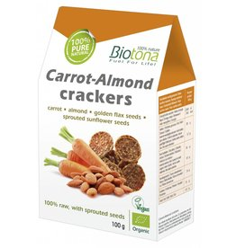 Biotona Carrot-Almond crackers
