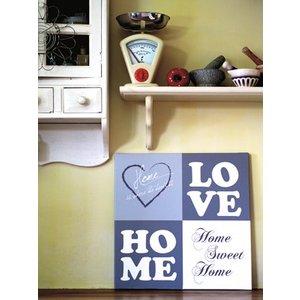 Tekst op canvas Love Home