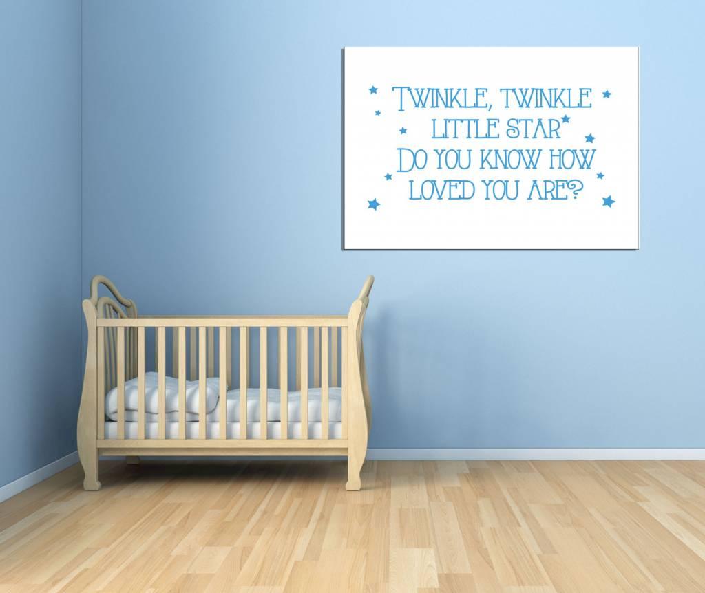 tekst babykamer op canvas ~ lactate for ., Deco ideeën
