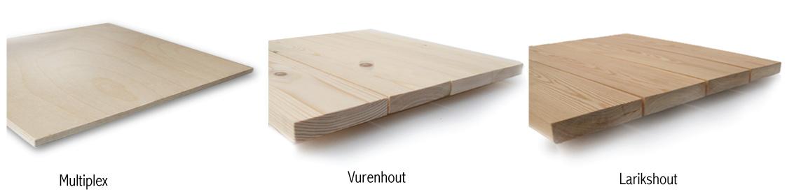 Foto op vurenhout (mooie sturctuur en lichte kleur, wordt het meest ...
