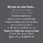 Tekst op hout Bij opa en oma thuis..