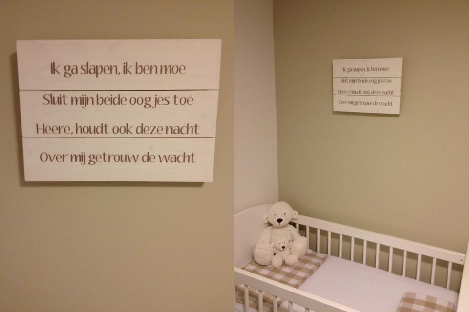 Kinderkamer Kinderkamer Wanddecoratie : Tekst op hout tekstopcanvas