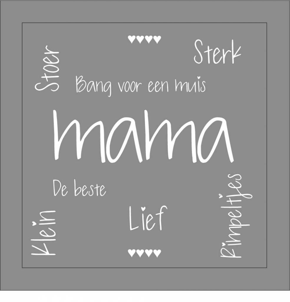 Favoriete Tekst op canvas mama - tekstopcanvas #PM14