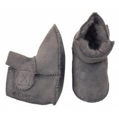 MELTON Gevoerd laarsje grijs met (met 100% lamswol)