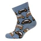 MELTON sokken blauw met auto's