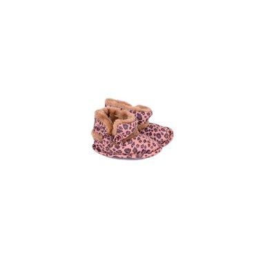 APOLLO babyslofjes bruin met tijgerprint - gevoerd