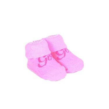 APOLLO sokjes Girl offwhite met roze tekst giftbox! Newborn