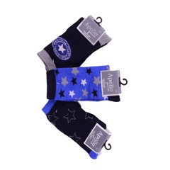 APOLLO 3 paar sokken marineblauw met kobaltblauw