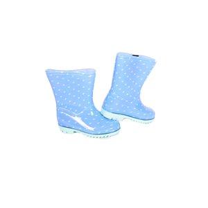 APOLLO regenlaarzen blauw met wit
