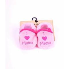 "APOLLO slofjes ""I love mama"" roze cadeautip!"