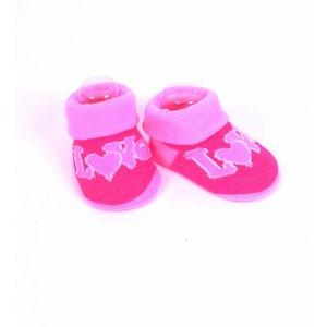 APOLLO sokjes Love fuchsiaroze met lichtroze giftbox! Newborn