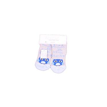 APOLLO anti-slipsokken offwhite met babyblauw