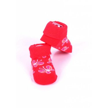 APOLLO sokjes butterfly rood met roze giftbox! Newborn