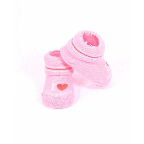 APOLLO sokjes Love my mom roze/perzikkleurig giftbox! Newborn