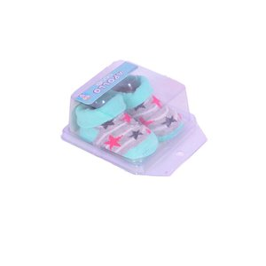 APOLLO sokjes little star mintgroen grijs met roze ster giftbox! Newborn