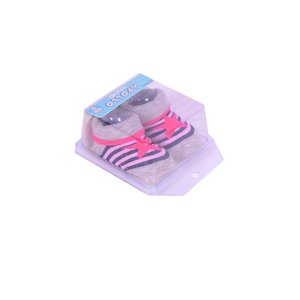 APOLLO sokjes star grijs met roze ster giftbox! Newborn