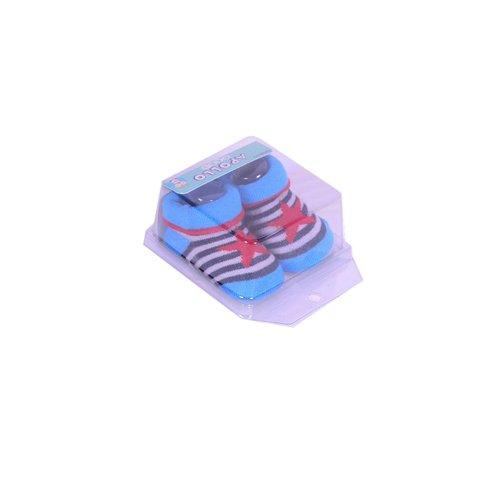APOLLO sokjes star blauw met rode ster giftbox! Newborn