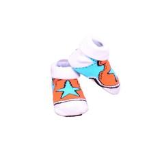 APOLLO sokjes Stars oranje met wit giftbox! Newborn
