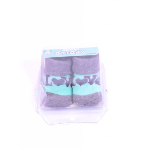 APOLLO sokjes Love mintgroen met grijs giftbox! Newborn