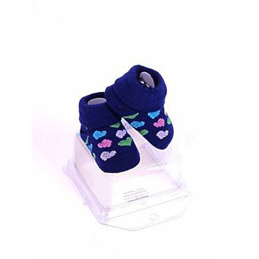 APOLLO sokjes Love marineblauw met hartjes giftbox! Newborn