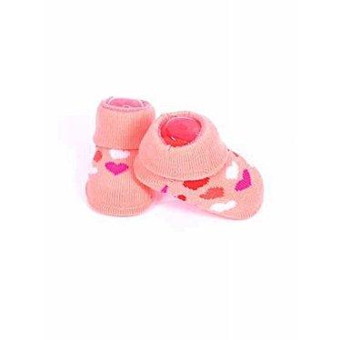 APOLLO sokjes Love perzikkleurig met hartjes giftbox! Newborn